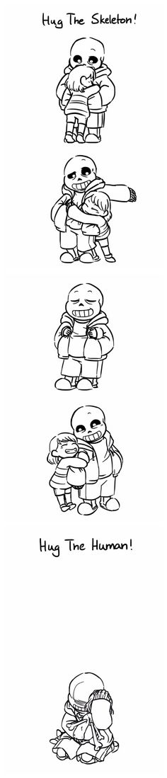 Sans and Frisk - comic. At first I was like aww that's so cute! Then BOOM feels
