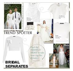 """""""Trend: Bridal Separates"""" by nfabjoy ❤ liked on Polyvore featuring Neil Barrett, Rebecca Taylor, Proenza Schouler, BCBGMAXAZRIA, wedding, bridal and trendreport"""