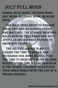 Full Buck Moon, Full Moon Names, Full Moon July, Full Moon Meaning, Moon Spells, Wiccan Spells, Easy Spells, Pagan Witch, La Luna