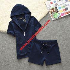 e55fb5b6411d Juicy Couture Original Velour Tracksuit 607 2pcs Women Suits Navy Blue