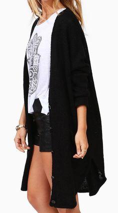 Knit: Maxi Cardigan in Black