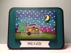 """Lawn Fawn """"Make A Wish"""" Happy Trails Card by ucaree's crafts, via Flickr"""
