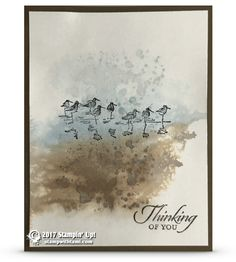 CARD: Watercolor Spritz Technique with Retiring Gorgeous Grunge and Wetlands sets | Stampin Up Demonstrator - Tami White - Stamp With Tami Crafting and Card-Making Stampin Up blog