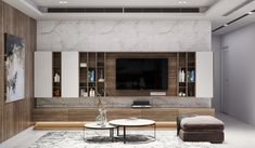 Living Room For Modern Homes: Some fascinating ideas for modern living rooms century style. Tiny Living Rooms, Living Room Tv, Living Room Designs, Tv Console Design, Tv Cabinet Design, Lcd Panel Design, Brides Room, Modern Tv Wall, Apartment Plans