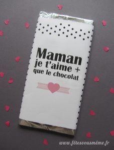 Emballage-chocolat Fête des mères
