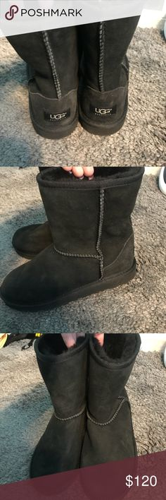 Ugg boots Black Ugg Boots. Brand new. Never worn. Size 5. Sells New for $160. UGG Shoes Winter & Rain Boots
