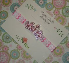 Baby Headband, Pink Rhinestone Crown Headband, Baby Tiara Headband, Pink Headband, Toddler headband, Newborn Headband, Princess Headband by TuttaBellaBoutique on Etsy https://www.etsy.com/listing/229371331/baby-headband-pink-rhinestone-crown