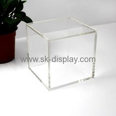 Acrylic products manufacturer customize 5 sided acrylic box  small clear acrylic boxes DBS-266