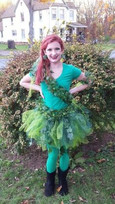 Poison Ivy  sc 1 st  Pinterest & My baby girl as Poison ivy costume made by me | For Kids | Pinterest ...