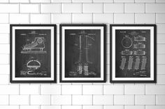 Ice Hockey Patent Poster Group of 3, Hockey Stick, Hockey Decor, Ice Skate, Hockey Puck, Hockey Wall Art, PP1164 by PatentPrints on Etsy https://www.etsy.com/listing/223203313/ice-hockey-patent-poster-group-of-3