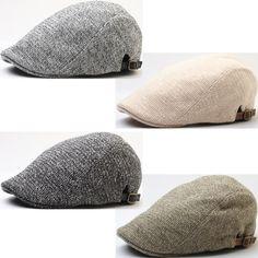 New Urban Soft Knit Two-tone Newsboy Cap Golf Cabbie Ascot Gatsby Beret Hat