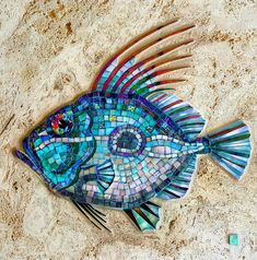 John Dory - mosaic on travertine marble. Love my fishes! . . . . . #fineart #fishing #johndory #mosaic #mosaicart #walldecor #decor #wallart #beautiful #beauty #glassart #glass #dichroicglass #marble #interiordesign #decorations #jakypinnock #sealife #underwater #fish #australianart #art #artistsoninstagram #mosaicfish