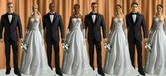 interracial wedding cake toppers!