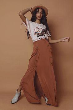 Double Button Up Maxi Skirt - Ladies New In - What's New Winter Essentials, Body Con Skirt, Fashion News, Fashion Forward, Button Up, Harem Pants, Latest Trends, Mini Skirts, Lady
