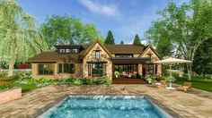 <div><ul><li>The handsome exterior of this Northwest house plan comes from the attractive metal roof, shed dormers and accents of stone.</li><li>There's a wealth of amenities inside too, from built-ins to vaulted ceilings to the barn door food pantry.</li><li>Even the mud room is special with its spacious layout, bench seating and a utility sink.</li><li>Get a front row view from the kitchen sink in the large island that...