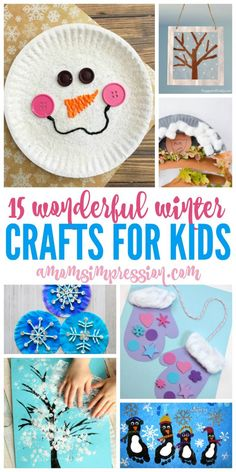 15 Wonderful Winter Kids Crafts Ideas