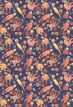 PROJECTSWIP Pattern Design Most Appreciated Worldwide Fort Firefly Fabric Collection by Teagan White F 207 G 2523 Q Pattern Design, Illustra...