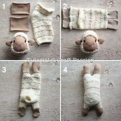 Sock Sheep – Free Sew Pattern Free pattern and tutorial on how to sew sock sheep with 2 single socks. Use a chenille microfiber sock to resemble the fluffy fur of the sheep. Sewing Patterns Free, Free Sewing, Doll Patterns, Free Pattern, Plush Pattern, Pattern Sewing, Sock Crafts, Fabric Crafts, Diy Crafts