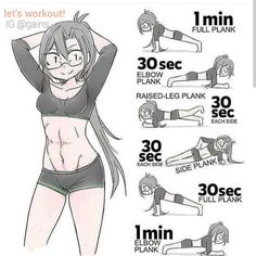 Flat stomach workout: Planks a re one of the best exercises to tighten the stomach and strengthen the core. Abs workout at home. Planks workout routine to get abs at home. Learn to get a flat and toned abs at home with this. Workout For Flat Stomach, Belly Fat Workout, Flat Abs, Flat Tummy, At Home Workout Plan, At Home Workouts, Ab Workouts, Lifting Workouts, Fat Burning Workout