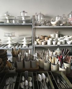 Shop view #redchaironwarren #french #white #hudsonny #ironstone #flatware #forthecook #forthetable #19thcenturyglass