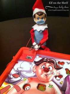 Operation Elf from a reader. Send us your Funny, Easy, and Creative Elf on the Shelf Ideas. Hundreds of ideas found on Frugal Coupon Living. Great doctor or nurse elf on the shelf idea!