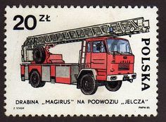 ZIL Car Logo | Sello: Camion de bomberos 20 de polonia europa