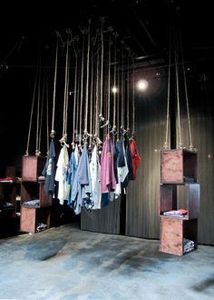 Lovely & airy way to present your collection -- moussy pop up store - nyc