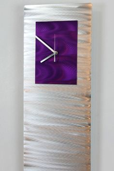 Purple Wall Clock Radiance Modern Hand Crafted by statements2000