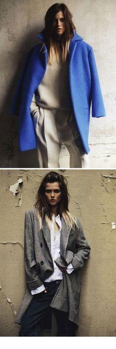 Oversize coat - 2013 winter trend in periwinkle