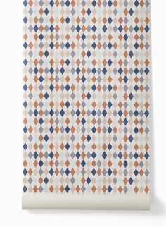 Kindertapete happy harlequin von ferm LIVING  - coral/ rose/