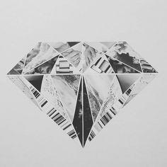 """We're like crystal, we break easy.."" Sunday art lesson #collage #paper #crystal #art #byme #blackandwhite #fragments #neworder #lyrics #creativework #sunday #artlesson"