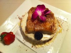 Bread pudding and other scrumptious desserts are the perfect ending to a freshly prepared gourmet meal in a comfortable setting at Paseo Grill in Oklahoma City.
