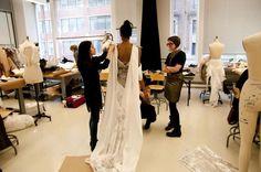 SAIC sophomores during a fitting. Images from https://www.facebook.com/saic.fashionshow. Courtesy SAIC.