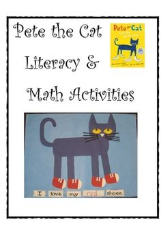 Pete the Cat Literacy and Math activities by Deanna Jump - Pete the Cat by Eric Litwin is a class favorite! Included in this resource are full color directions for making Pete the Cat. There are two option. Preschool Literacy, Preschool Books, Preschool Lessons, Early Literacy, Kindergarten Reading, Kindergarten Activities, Book Activities, Reading School, Alphabet Activities