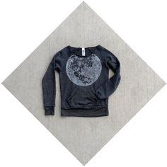 Womens sweatshirt moon sweatshirt full moon by blackbirdtees