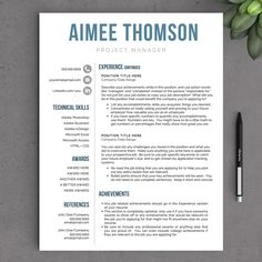 Creative Modern Resume Template For Word US By LandedDesignStudio