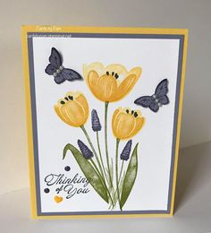 Butterfly Cards, Flower Cards, Simple Card Designs, Stamping Up Cards, Get Well Cards, Card Patterns, Pretty Cards, Sympathy Cards, Homemade Cards