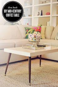 IKEA Hackers: Lack Turned Mid-Century Modern Coffee Table- loooooove this