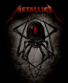 "metallica artwork | Metallica, ""Spider"" Design"