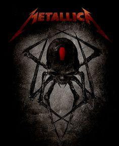 "metallica artwork | Metallica, ""Spider"" Design"