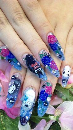 Hayao Miyazaki 3d nails o.o
