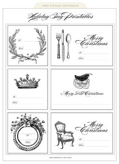 Vintage Holiday Printables Tag  http://silverboxcreative.com/blog/wp-content/uploads/2011/12/2011holidaygifttags.pdf