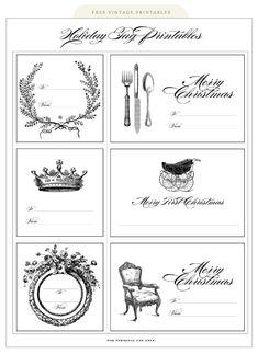 vintage holiday printables