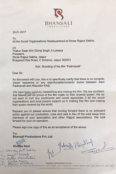 'Padmavati' row: Sanjay Leela Bhansali arrives at a written agreement with Karni Sena and Rajput Sabha - Times of India ► Sanjay Leela Bhansali, Social Organization, Times Of India, The Row, Entertainment, Entertaining