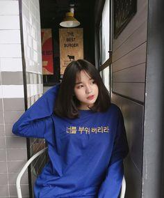 Pretty Girl of Asian - Smile Girl Beauty Ulzzang Short Hair, Korean Short Hair, Ulzzang Korean Girl, Cute Korean Girl, Cute Asian Girls, Pretty Girls, Cute Girls, Look Fashion, Korean Fashion