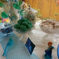 Frozen party cookies for my dessert table
