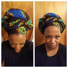#crown of the day! Psychedelic chic crown. Beautiful blend of emerald green royal blue and gold hues. 2 yards. Cotton fabric. Perfect for an everyday crown. Available for pre-sale. $40  shipping/handling. Email crownbyavalaura@gmail.com to order! Follow me on Instagram @crownbyavalaura #headwrapswag #headwrap #headwraps #africanheadwrap #queenswherecrowns #crownbyavalaura #1millionwomenwraped