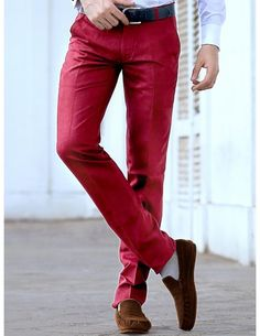 Buy Red Linen Pants. http://www.bharatplaza.com/mens-wear/trousers.html