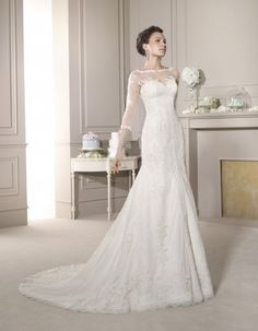 The latest 2015 bridal collection of Fara Sposa wedding dresses is full of intricate embroidery, illusion necklines and elegant feminine silhouettes. Take a look and happy pinning! Wedding Dress Sash, Amazing Wedding Dress, 2015 Wedding Dresses, Elegant Wedding Dress, Lace Ball Gowns, Designer Wedding Gowns, Mod Wedding, Wedding Bride, Mermaid Bridal Gowns