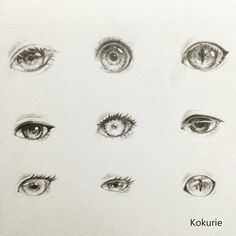 Eyes doodle ;v; And also, some of them are inspired by @minmonsta xD